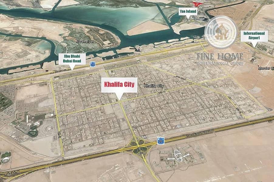10 superb 2 Villas Compound in Khalifa City