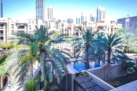 2 Bedroom Apartment for Rent in Old Town, Dubai - Pool Views | Vacant Now | Repainted | Study