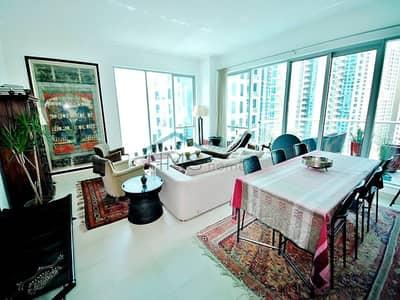 2 Bedroom Apartment for Rent in Dubai Marina, Dubai - Large layout | High floor | Marina views