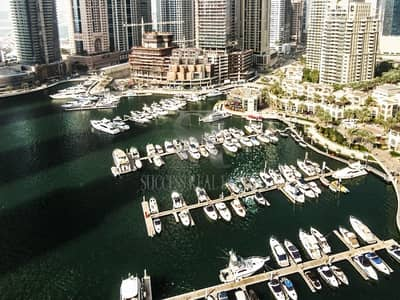 3 Bedroom Flat for Rent in Dubai Marina, Dubai - Beautiful 3 BR+Maids+Study+2 Parking Full Marina View