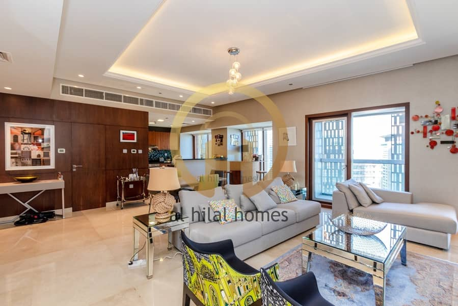2 Furnished | 2 BR + Maid | Fully Upgraded | Marina view