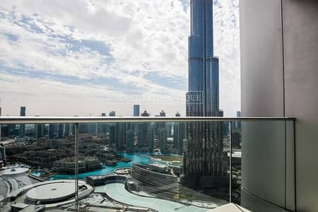 3 Bedroom Flat for Rent in Downtown Dubai, Dubai - 3 Bedroom | Burj Khalifa and Fountain View