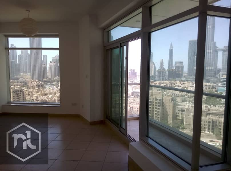 Full Burj Khalifa view vacant 2 BR in Burj Views C