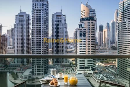 1 Bedroom Hotel Apartment for Rent in Jumeirah Lake Towers (JLT), Dubai - An Effortless Stay w/ Stunning Lake View