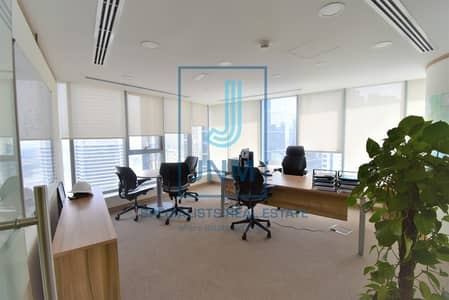 Office for Rent in Jumeirah Lake Towers (JLT), Dubai - Lake view from Fitted Office At Platinum