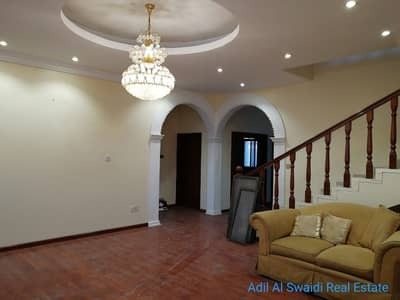 5 Bedroom Villa for Rent in Al Goaz, Sharjah - 5 BHK D/S story villa (ONLY ARABS) with 3 master rooms, majlis, living dining, pool, lawn, mulhaq