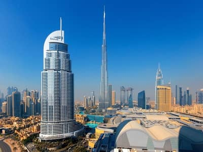 1 Bedroom Apartment for Rent in Downtown Dubai, Dubai - Fountain View | Includes DEWA/Internet | Serviced