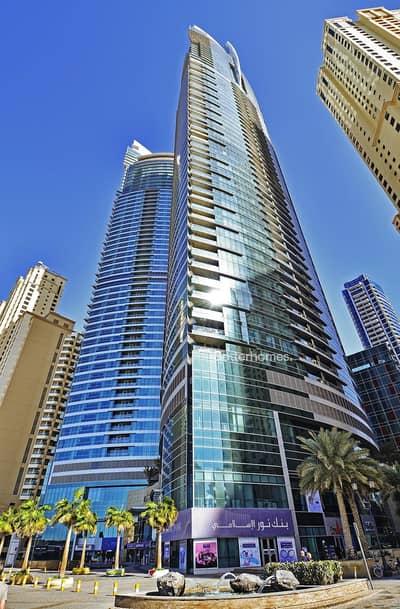 3 Bedroom Apartment for Sale in Jumeirah Beach Residence (JBR), Dubai - Full sea & Dubai Eye view I Right on beach