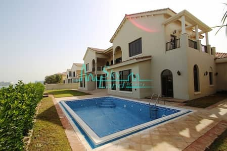 6 Bedroom Villa for Rent in Palm Jumeirah, Dubai - Beautiful European Gallery Views Signature Villa