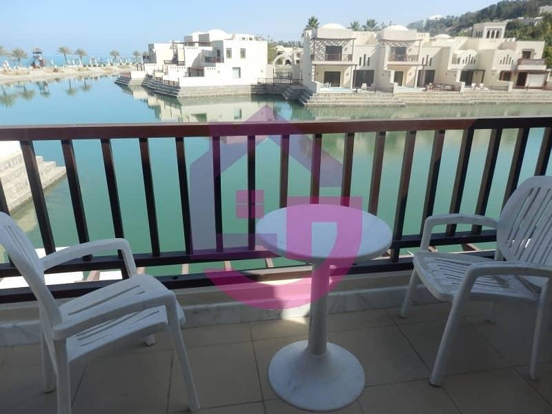 2 Stunning one bedroom waterfront villa  beautiful sea views