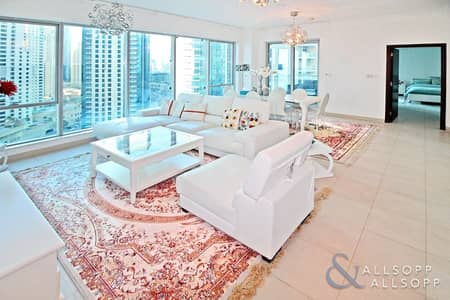 2 Bedroom Apartment for Sale in Dubai Marina, Dubai - Vacant on Transfer | Marina + Sea Views