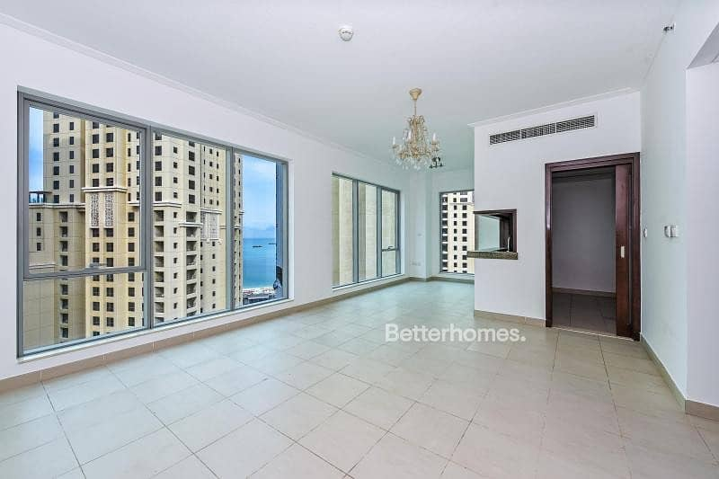 1 1BR Balcony Partial Sea High Flr Rented.