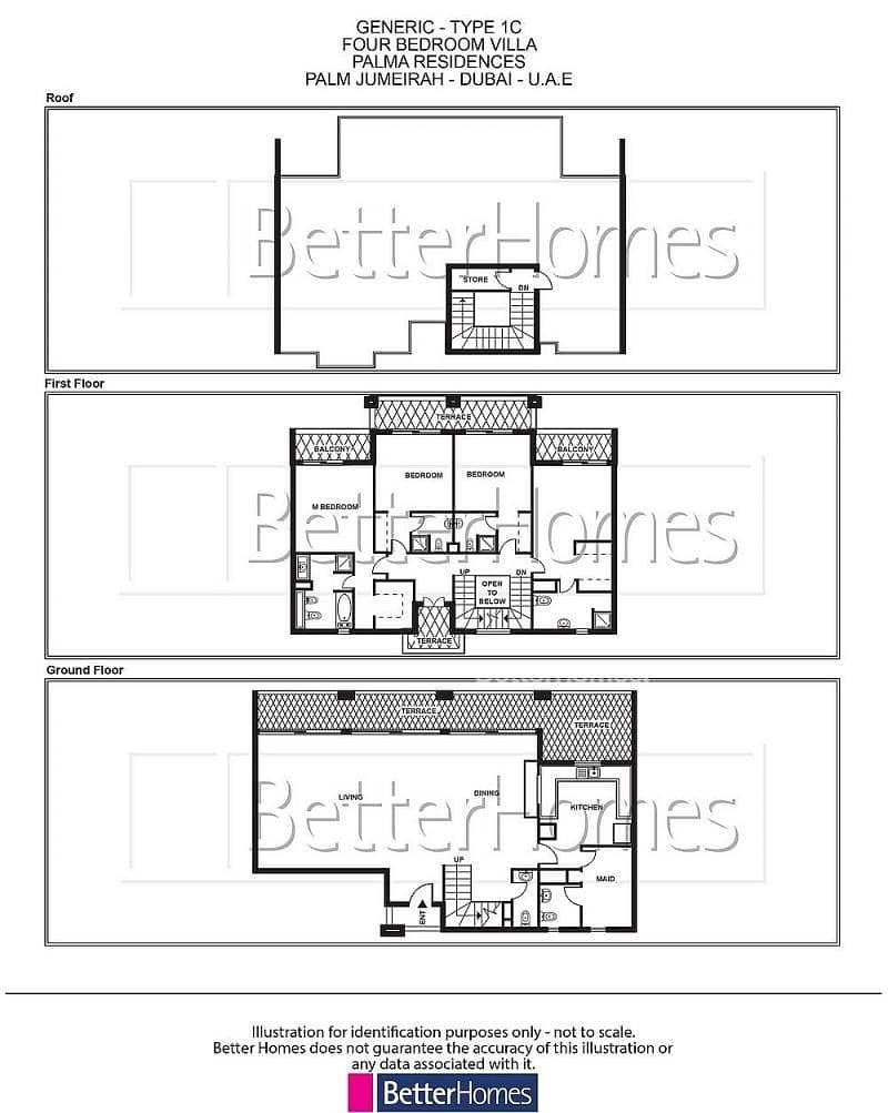 12 4 Bed Type 1C Villa Palma Residences Palm Jumeirah