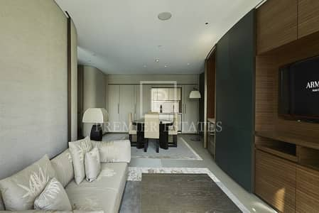 فلیٹ 1 غرفة نوم للبيع في وسط مدينة دبي، دبي - Fountain view -1BR in Armani Residences