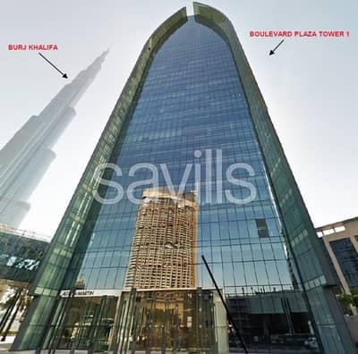 مکتب  للبيع في وسط مدينة دبي، دبي - Shell & Core |Burj View |  Boulevard Plaza