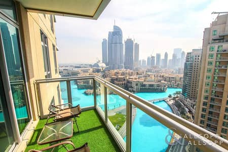 1 Bedroom Apartment for Sale in Downtown Dubai, Dubai - Full Fountain View | 1 Bed | Great Layout