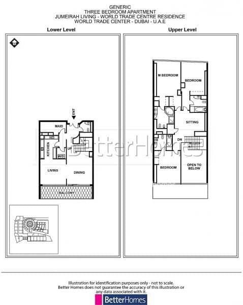 16 3 Bed+Maid Room | Balcony | Large Duplex