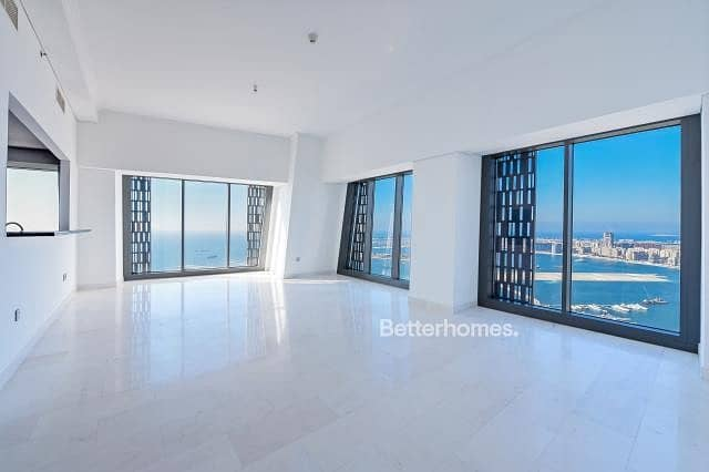 2 High floor Full sea view | 3 Bed plus maid