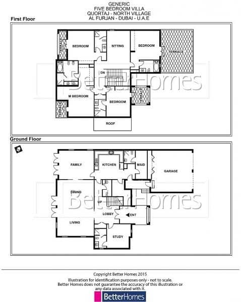 15 5 Bed Quortaj Style Villa with Maid's in Al Furjan