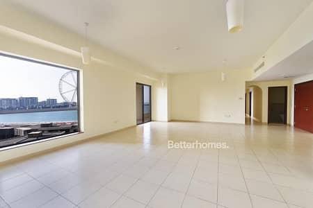 فلیٹ 4 غرفة نوم للبيع في مساكن شاطئ جميرا (JBR)، دبي - Full Sea View 4 Bed with Maids RIMAL