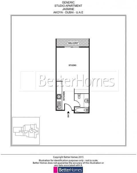 15 Service Apartment | Jasmine Akoya | Studio