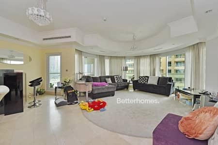3 Bedroom Apartment for Sale in Dubai Marina, Dubai - Partial Marina View | Low Floor | Maids