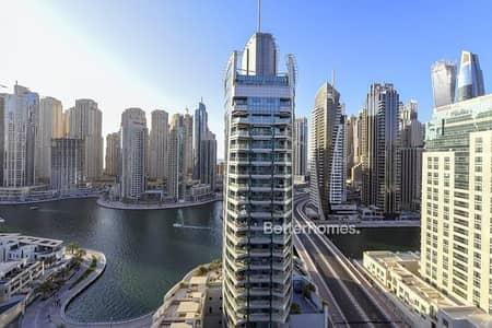 فلیٹ 2 غرفة نوم للبيع في دبي مارينا، دبي - High Floor | Full Marina View | Vacant on Transfer