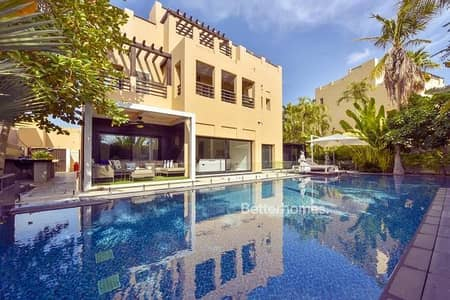 6 Bedroom Villa for Sale in The Lakes, Dubai - Fully Upgraded/Type E1 /Lake View /Private Home Cinema