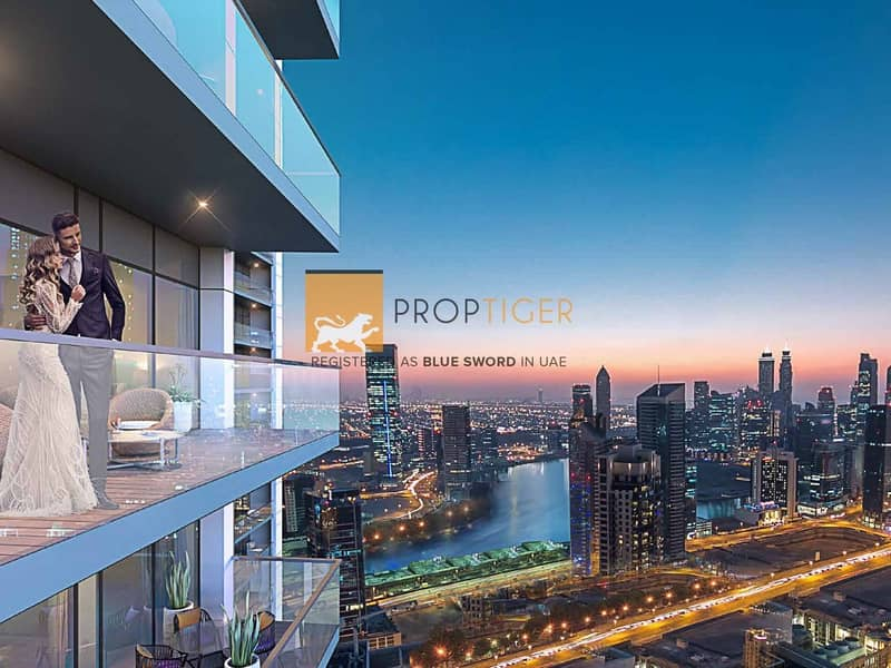 Luxury 2 bed residences with breathtaking views of the Dubai Canal.
