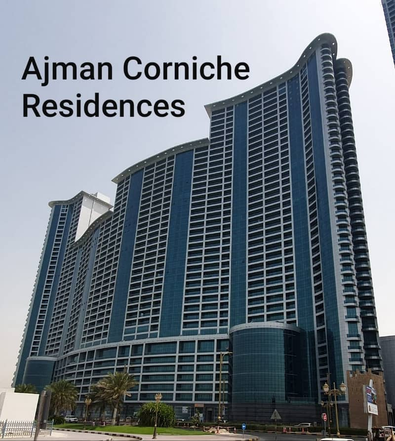 2 Bedroom Hall w/ unobstructed full sea view and 2 Parkings in Ajman  Corniche Residences | Bayut com