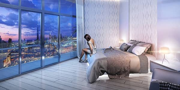فلیٹ 1 غرفة نوم للبيع في بر دبي، دبي - غرفه وصاله بوسط المدينه اطلاله برج خليفه عائد 10% ادفع 70 الف وقسط الباقي