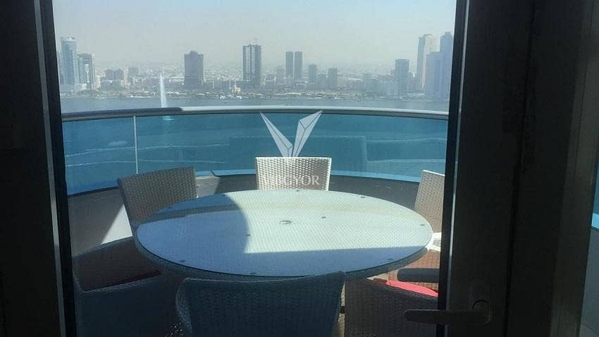 1 Panoramic View 4 Bed Apt - Higher Floor in The Blue Tower - Sharjah