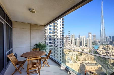 2 Bedroom Apartment for Sale in Downtown Dubai, Dubai - Largest Two Bed Full Burj View High Floor