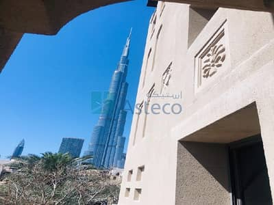 2 Bedroom Flat for Rent in Old Town, Dubai - 2 Bed w/ Kitchen Goods|Burj Khalifa View