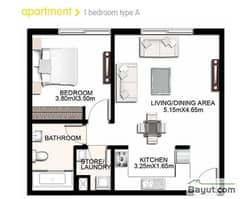 1 Bedroom Apartment Type A