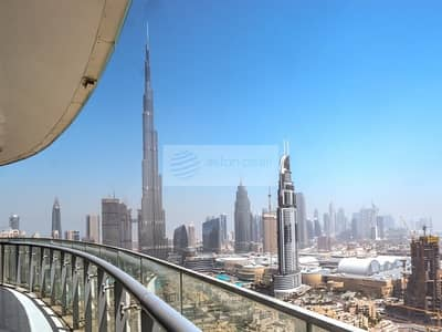 2 Bedroom Hotel Apartment for Sale in Downtown Dubai, Dubai - Fendi Furnitures | Burj and Fountain View | 2 BR