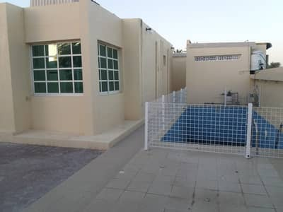 4 Bedroom Villa for Rent in Al Ghafia, Sharjah - 4 BHK Villa with majlis, hall, big hoash, 3 bathrooms, split A/C, pvt. swimming pool, covd parkin