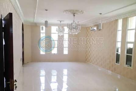 6 Bedroom Villa for Rent in Khalifa City A, Abu Dhabi - Private entrance  6BR villa in Khalifa A