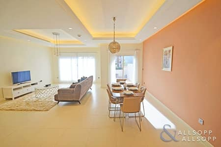 3 Bedroom Townhouse for Rent in Jumeirah Golf Estate, Dubai - Furnished | Backing Pool | 3 Bed + Maids