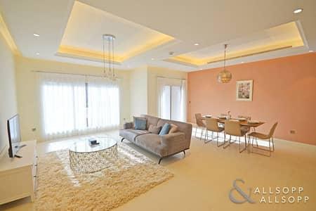 تاون هاوس 3 غرفة نوم للايجار في عقارات جميرا للجولف، دبي - Furnished | Backing Pool | 3 Bed + Maids