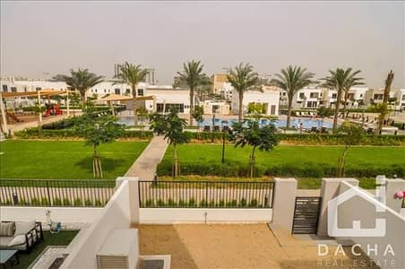 3 Bedroom Townhouse for Rent in Town Square, Dubai - RARE Central Main Pool and Park View. Type 6