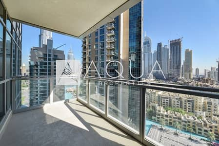 3 Bedroom Flat for Rent in Downtown Dubai, Dubai - Naturally well-lit unit w/ wonderful view