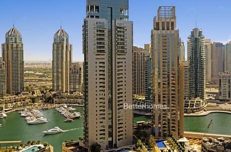 شقة 2 غرفة نوم للبيع في دبي مارينا، دبي - Stunning 2 Bed in high floor 08 series.
