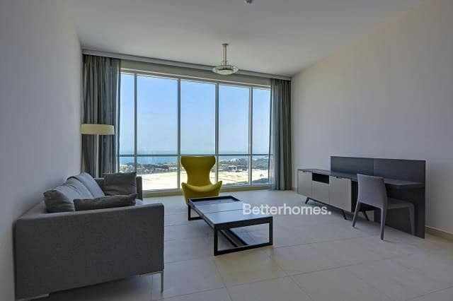1 2 bedroom furnished with full sea view