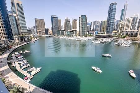 3 Bedroom Flat for Rent in Dubai Marina, Dubai - Fully Furnished | Full Marina | A/C Free