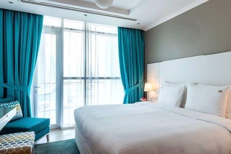 شقة فندقية 1 غرفة نوم للايجار في دبي مارينا، دبي - شقة فندقية في فندق جنة مارينا باي سويتس دبي مارينا 1 غرف 10500 درهم - 3144911
