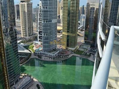1 Bedroom Flat for Sale in Jumeirah Lake Towers (JLT), Dubai - Full Lake View Furnished 1 Bed plus Study