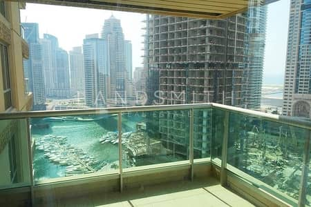 فلیٹ 3 غرفة نوم للايجار في دبي مارينا، دبي - Nice Marina View 3 Bedroom in Al MASS Tower