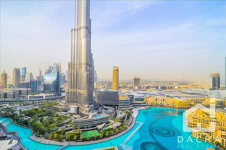 فلیٹ 3 غرفة نوم للايجار في وسط مدينة دبي، دبي - FULL BURJ AND FOUNTAIN VIEW! LUXURY 3BED+M