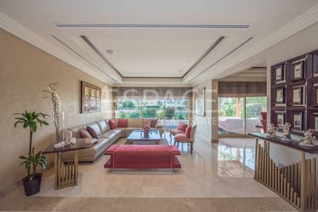 5 Bedroom Villa for Rent in The Meadows, Dubai - Fully Furnished - Upgraded - Lake Views